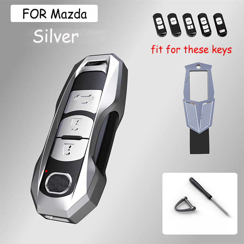 Alloy Car Key Fob Protection Covers Cases For Mazda 6 Axela CX 3 CX 5 CX5 CX 7 CX7 CX 9 RX8Key Case for Car   -