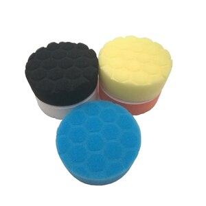 Image 2 - 5pcs Car Polishing Disc Self Adhesive Buffing Waxing Pad Muti color Sponge For Car Polisher Drill Adapter