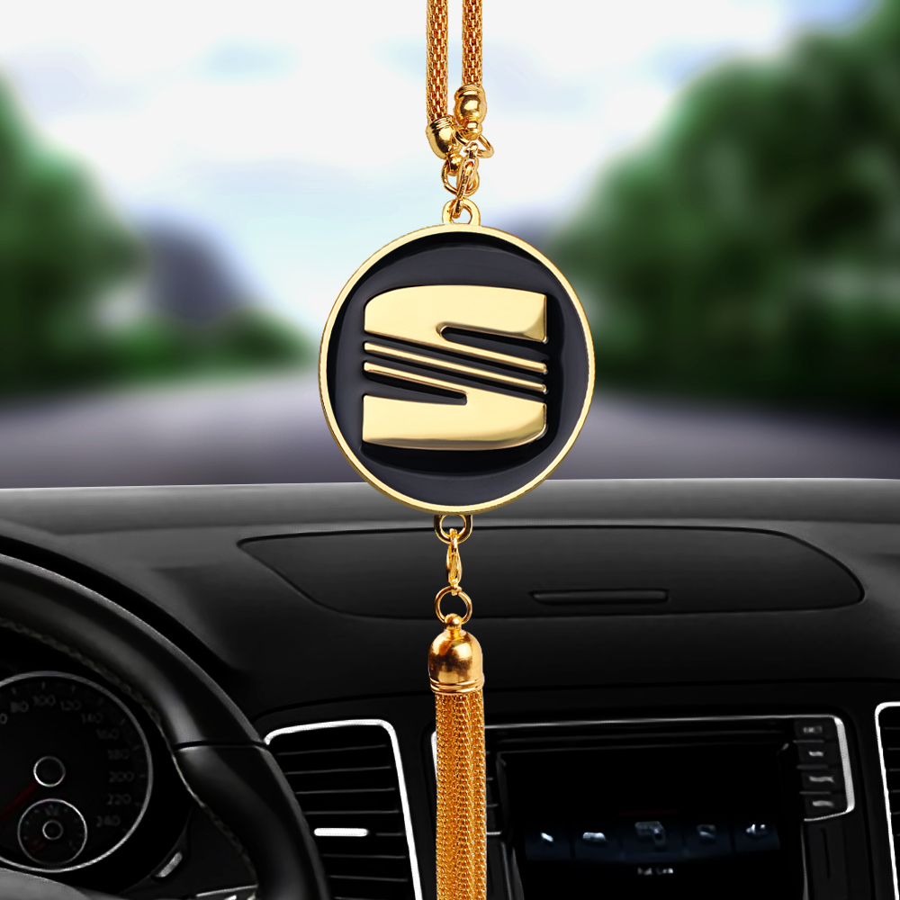 Car Interior Rearview Mirror Decoration Pendant Emblem For Seat Leon MK3 MK2 Ibiza 6J 6L FR Ateca Arona Accessories