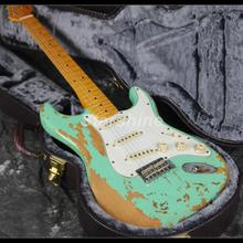 In Stock Fast Shipping Heavy Relic Electric Guitar Z-ZS3 Nitrolacquer Green Color Handmead Delivery Good Quality Alder Body