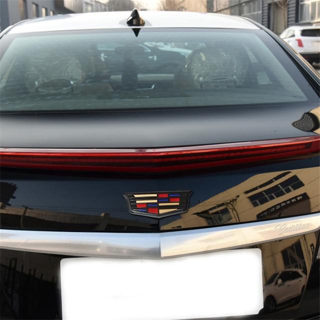 For Cadillac Logo XTS XT5 XT6 ATSL ABS Auto Front Grille Emblem Auto Tailgate Trunk Badge Chrome Exterior Sticker Accessories 3