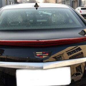 Image 3 - For Cadillac Logo XTS XT5 XT6 ATSL ABS Auto Front Grille Emblem Auto Tailgate Trunk Badge Chrome Exterior Sticker Accessories