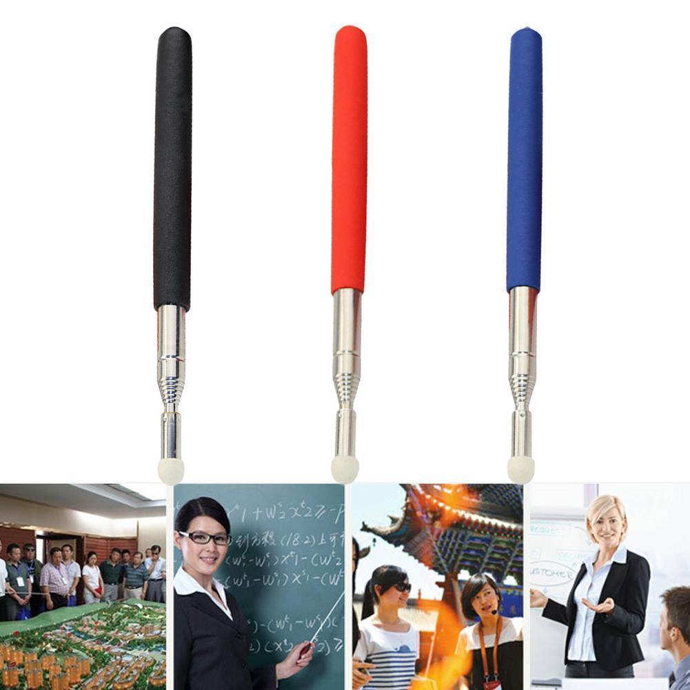 1M Portable Extendable Pointer Handheld Presenter Classroom For Teaching Meeting Head Whiteboard Felt Tools Pen Pointer Tea N8E2