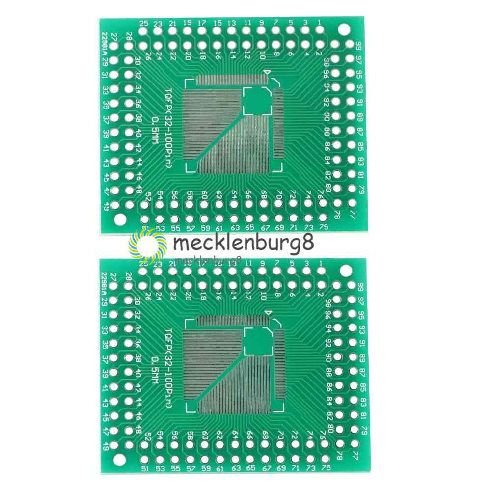 5 قطعة جديد QFP TQFP LQFP FQFP 32 44 64 80 100 LQF SMD بدوره إلى DIP محول لوحة دارات مطبوعة محول لوحة 0.5/0.8 مللي متر