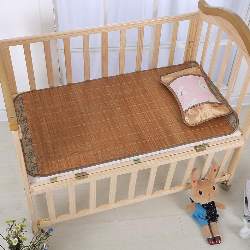 Infant Summer Sleeping Mat Washing Viscose Seats Angie Summer Double-Sided Kindergarten Bamboo Mat Baby CHILDREN'S Cartoon Summe