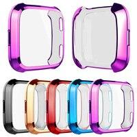 9 colores Protector de pantalla suave caso para Fitbit viceversa 3 1 1/2 sentido/viceversa Lite ver completa de la cubierta de TPU ligero parachoques Accesorios