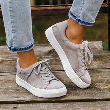 2020 New Spring and Autumn Women Sneakers Flock Wear-resisting Sport Ca