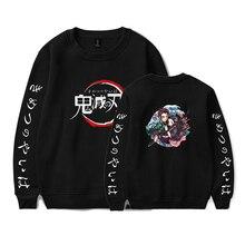 Demon Slayer: Kimetsuไม่มีYaiba Animeเสื้อกันหนาวและPullovers Unisex OคอHoodiesเสื้อกันหนาวลำลองเสื้อเสื้อ