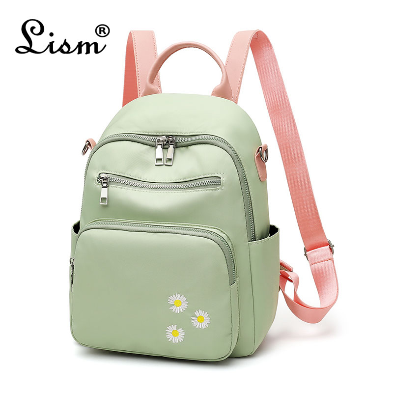 Brand Ladies Backpack 2020 Spring New Youth Girl School Bag Luxury Designer Ladies Travel Bag Small Daisy Embroidery Bag