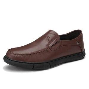 Image 5 - CAEML erkek ayakkabıları erkekler rahat hakiki deri inek derisi setleri erkek resmi ayakkabı yumuşak rahat açık yastıklama ayakkabı yeni