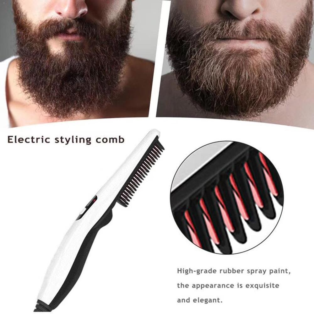 V2 Professional Quick Hair Styler For Men Curling Iron Side Straighten Salon Hairdressing Comb Styling Brush