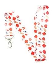 1 قطعة معاطف للأطباء والممرضات الحبل سلسلة مفاتيح حاملي الرقبة حزام