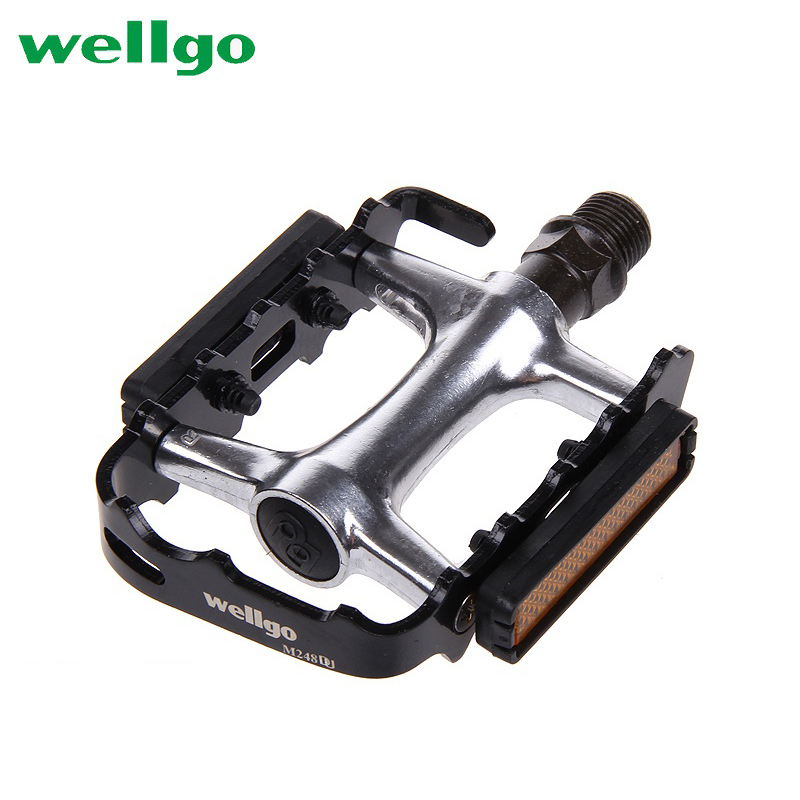 """New Wellgo M-21 MTB Road Bike Bicycle City Fixie Cycle Alloy 9//16/"""" Pedals Black"""