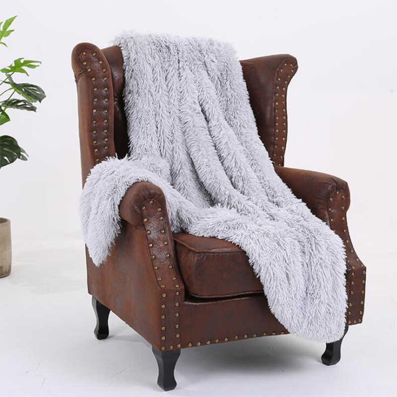 Super นุ่มยาว Coral ขนแกะ WARM Elegant COZY ผ้าห่ม Fluffy Sherpa โซฟาผ้าปูที่นอนผ้าห่ม