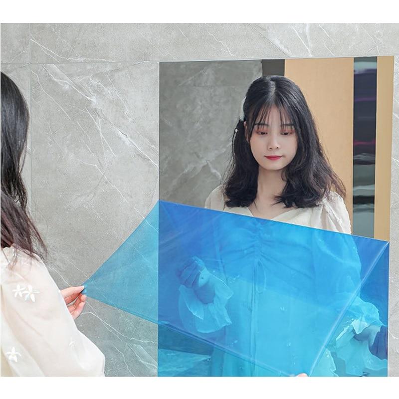 Pegatinas de espejo de pared para sala de estar, papel tapiz de espejo suave, efecto de espejo autoadhesivo, decoración del hogar, pegatinas reflectantes