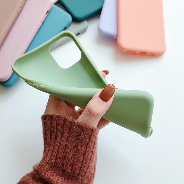 Cute Candy Color Soft Fashion Phone Case for iPhone