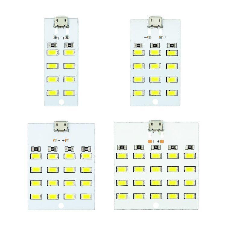 1 шт. высокого качества 5730 smd 5V 430mA ~ 470mA белый Mirco Usb 5730 светодиодный светильник ing панель USB Мобильный светильник аварийный светильник Ночной с...