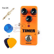 цена на Kokko FDD2 Timer Digital Delay Pedal Guitar Accessories Orange Mini Guitar Effect Pedal Device Delay Guitar Pedal With Connector
