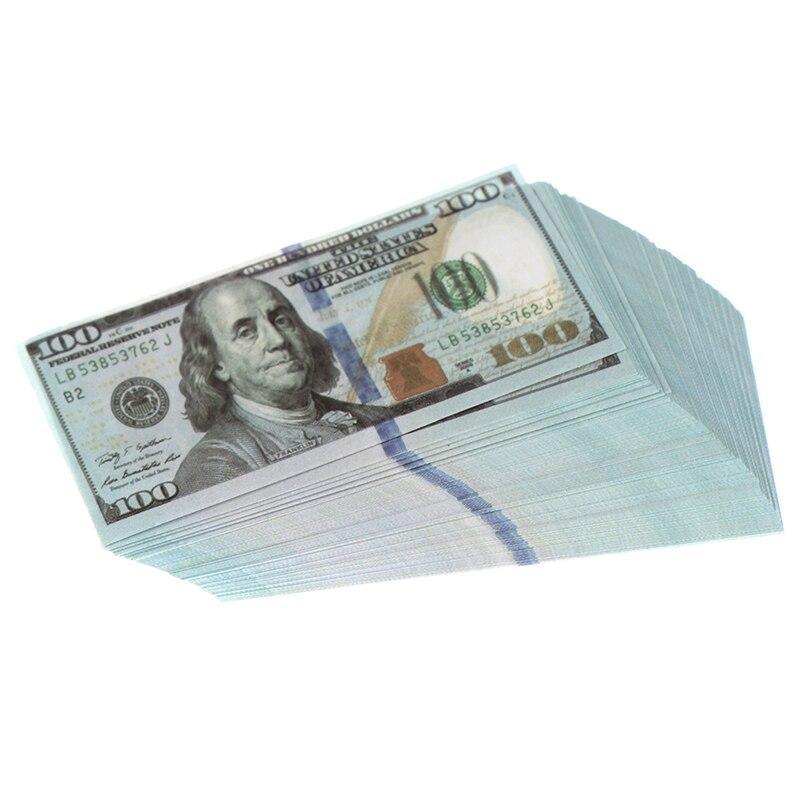 100 adet/takım yaratıcı Mini 100 dolar minyatür banknot çocuk oyuncakları hediyeler 1:12 evcilik minyatür bebek evi aksesuarları