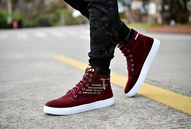 de alta qualidade sapatos casuais homens outono