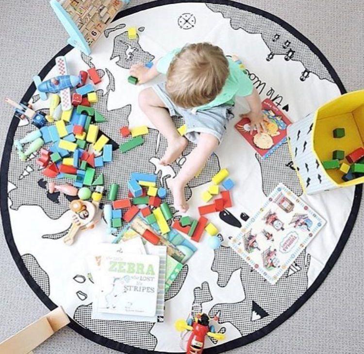 Carte ronde bébé activité tapis de jeu coton bébé jouets 13 24 mois 2019 nouveau tapis rampant tapis de jeu pour bébés