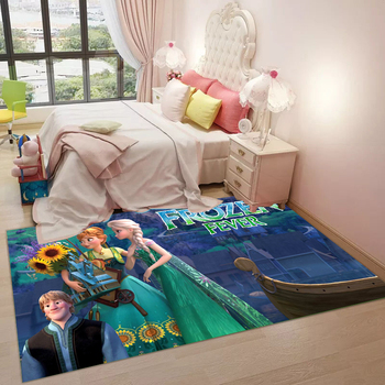 Cartoon Playmat 3D Printed  Design Livingroom Carpet Anna Elsa Rug Princess Mat Kids Large Carpets Playmate Rug Home Decor Gift persian totem printed home decor antiskid rug