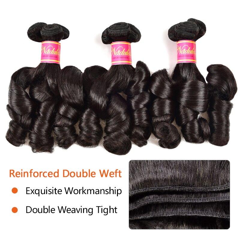 Nadula Hair Bouncy Funmi Curls Double Drawn Hair High Ratio 3 / 4 Bundles Curly  Wave 1PCS  Hair s 3