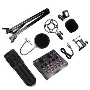 Image 1 - 8Pcs/set Bm 800 Microphone Kit For Computer 7 Colors With V8 Sound Card Professionnel Microfone Studio Microfono Condensador