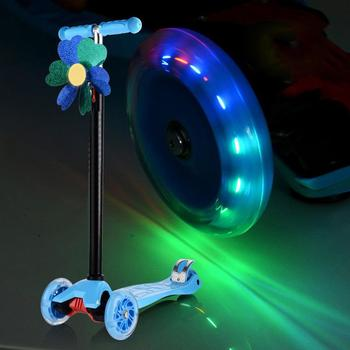 Micro Mini Scooter Wheel Flashing LED Lights Scooter Wheel Bearings 80mm Skate Wheels 100Mm Led Flash 2018 new real kids light scooter child four round wheel folding bike slide block flash 4 wheels outdoor toys 2 15years bicycle
