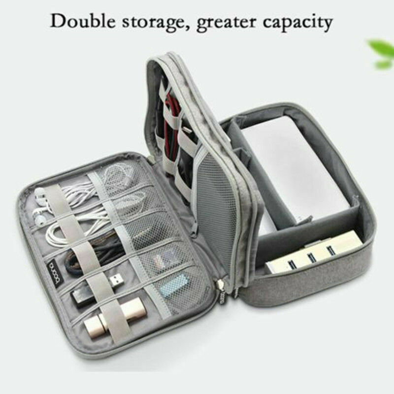 NEW Universal Charger Cable Organizer Electronics Case USB Phone Travel Bag