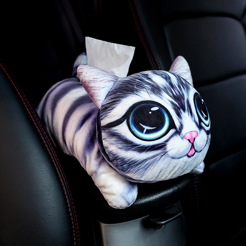 18 Car Mounted Tissue Box Car Hanging Sun Shade Tissue Box Creative Armrest Chair Paper Extraction Box A Generation Of Fat