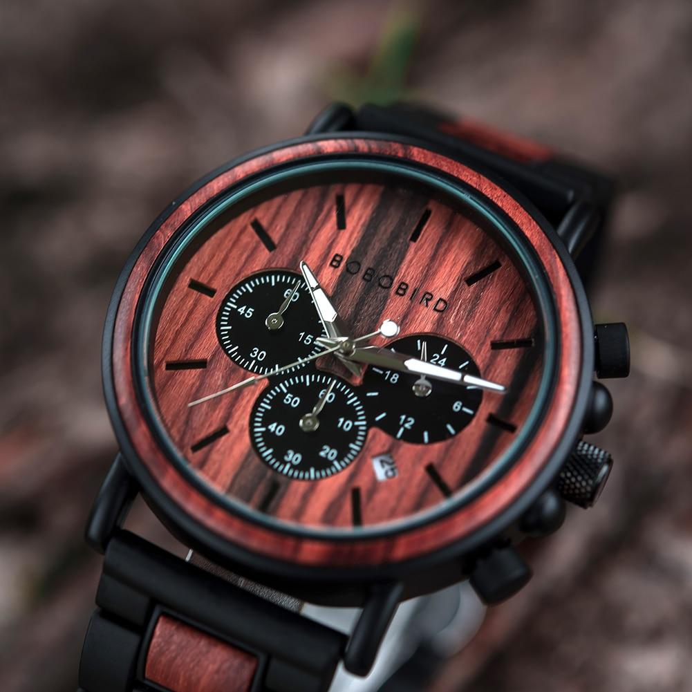 Hdca5b66bf19745159afae3af0da4cc34e BOBO BIRD Wooden Watch Men erkek kol saati Luxury Stylish Wood Timepieces Chronograph Military Quartz Watches in Wood Gift Box