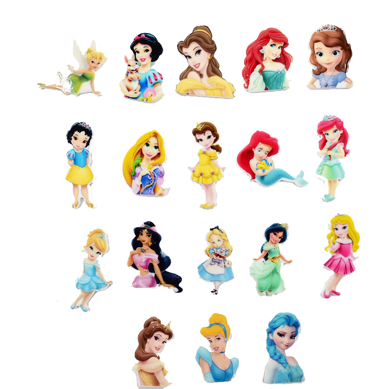 Fashion Princess Resin Charm For DIY Hairpin Brooch Necklace Pendants Jewelry Making Cute Girl Acrylic Charms