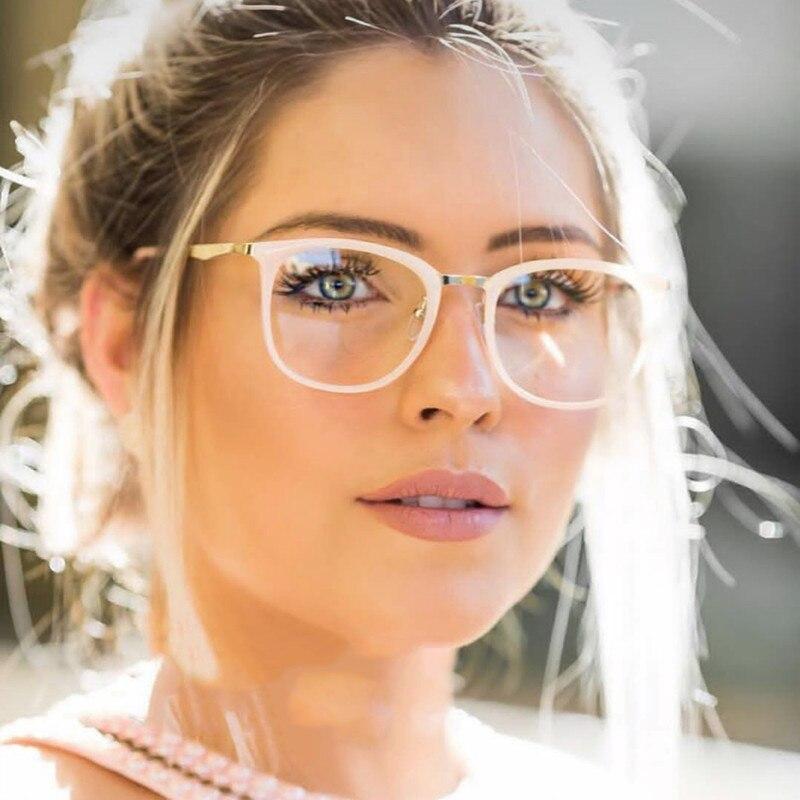 High Quality Women Cat Eye Eyeglasses Frame Women Men Optical Glasse Frame Computer Transparent Blue Light Blocking Glasses