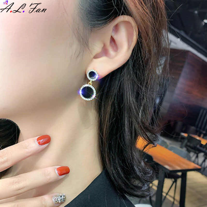 Étoile net rouge tempérament boucles d'oreilles élégant haut sens noir boucles d'oreilles femme coréenne mode sauvage populaire étincelant bijoux