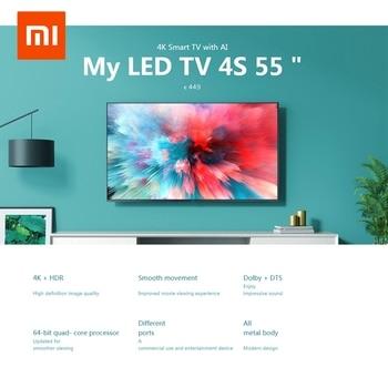 Xiaomi Mi TV 4K HDR 4S AI 32/43 55 Inch Smart TV Android 9.0 2GB 8GB Voice Control 5G WIFI Bluetooth 4.2 UHD Television European