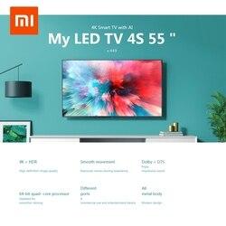 Xiaomi Mi TV 4K HDR 4S AI 32/43 55 pulgadas TV inteligente Android 9,0 2GB 8GB Control de voz 5G WIFI bluetooth 4,2 UHD de televisión europea