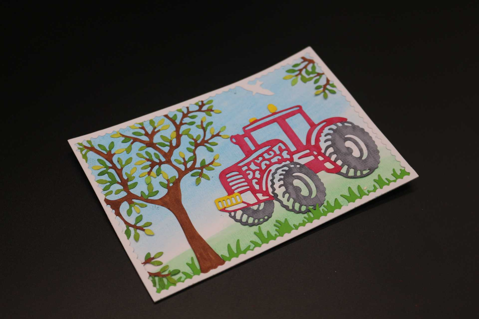 1*Car Tree Metal Cutting Dies Stencil DIY Scrapbooking Card Making Craft