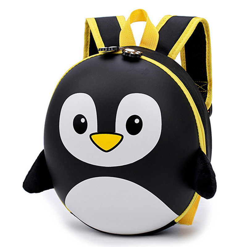 Children's Backpack 3D Mochila Escolar Menino New EVA Penguin Schoolbag Hard Shell Backpack Cartoon Lovely Mini Kids Cute Bags