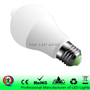 E27 Smart LED Bulbs Light 220V 110V Motion Sensor 5W 12W 18W LED Lamp Body induction Auto turn on/off with PIR motion detection image