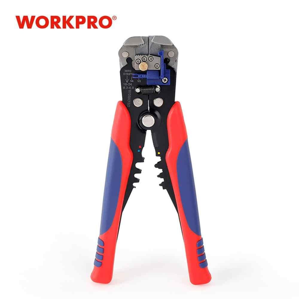 WORKPRO 8 дюймов саморегулирующийся провод автоматический инструмент для зачистки проводов обжимные инструменты мульти инструмент плоскогубцы кабельный резак