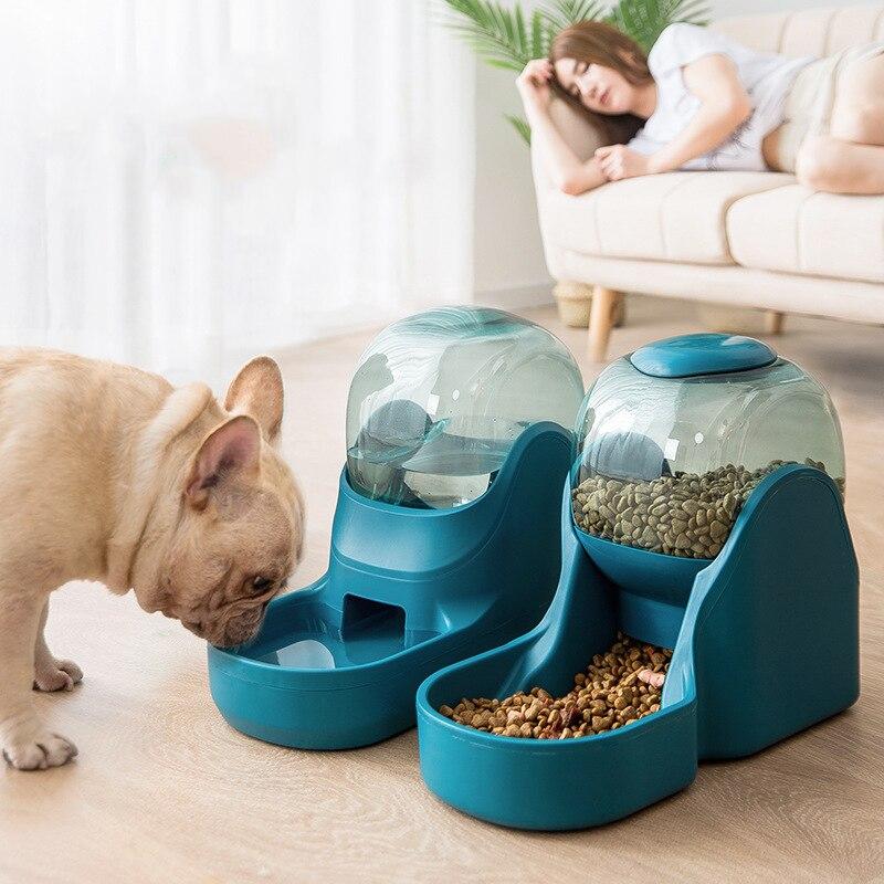 Bebedor y alimentador para perros y gatos de 3,5l, Bol para perros, botella de agua potable, para gatitos boles, contenedor de Comida Lenta, suministros para mascotas|Comida para perros| - AliExpress