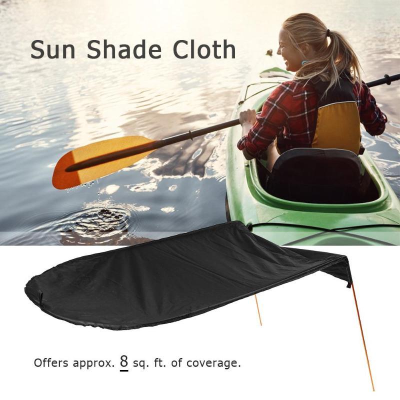 Detachable Heavy Duty Mesh Sun Shade Awning for Single Kayak Canoe