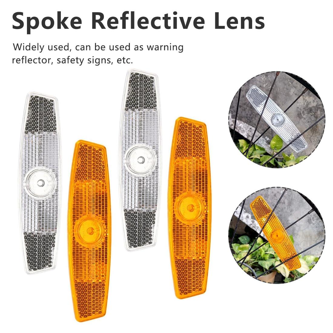 A Pair Bicycle Bike Wheel Safety Spoke Reflector Reflective Mount Clip Warning Bike Reflector Light