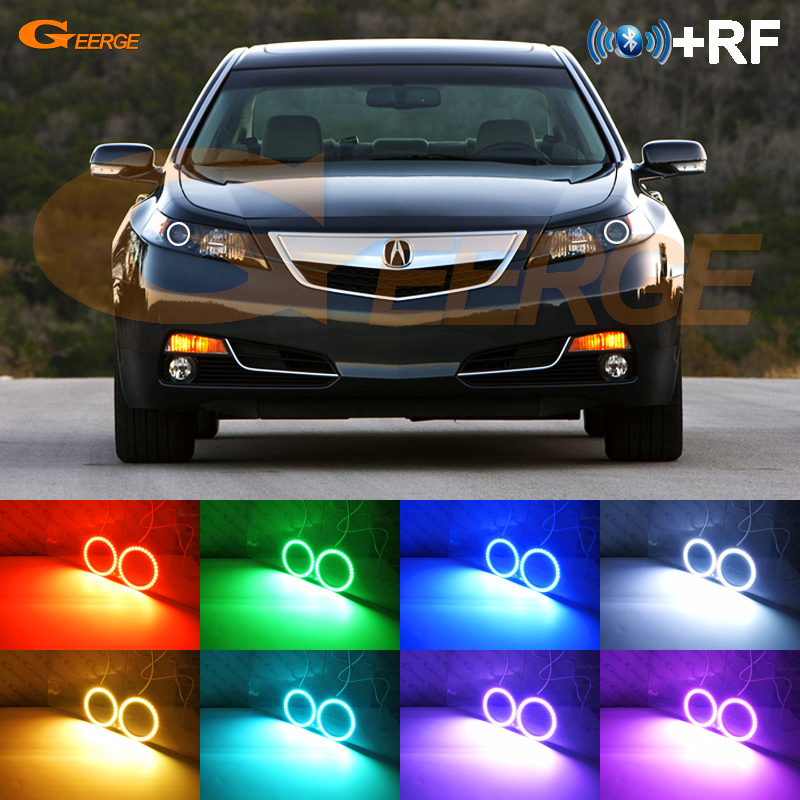 Excellent RF remote Bluetooth App Multi-Color Ultra bright RGB LED Angel Eyes Halo Ring kit For <font><b>Acura</b></font> <font><b>TL</b></font> <font><b>2009</b></font> 2010 2011 image