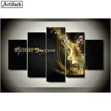 5d full square diamond painting Michael Jackson portrait 3d mosaic embroidery crafts five spell decorative