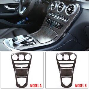 For Mercedes Benz C Class W205 GLC X253 Carbon Fiber Color Sticker Car ABS Center Console Panel Decoration Cover Trim