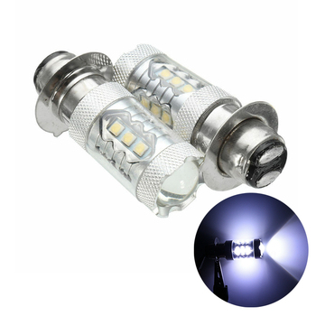 Motorcycle Headlight 2pcs P15D P15D-25-1 H6M 6500K 80W 16 LED Projector Motorcycle Hi/Lo Bulb image