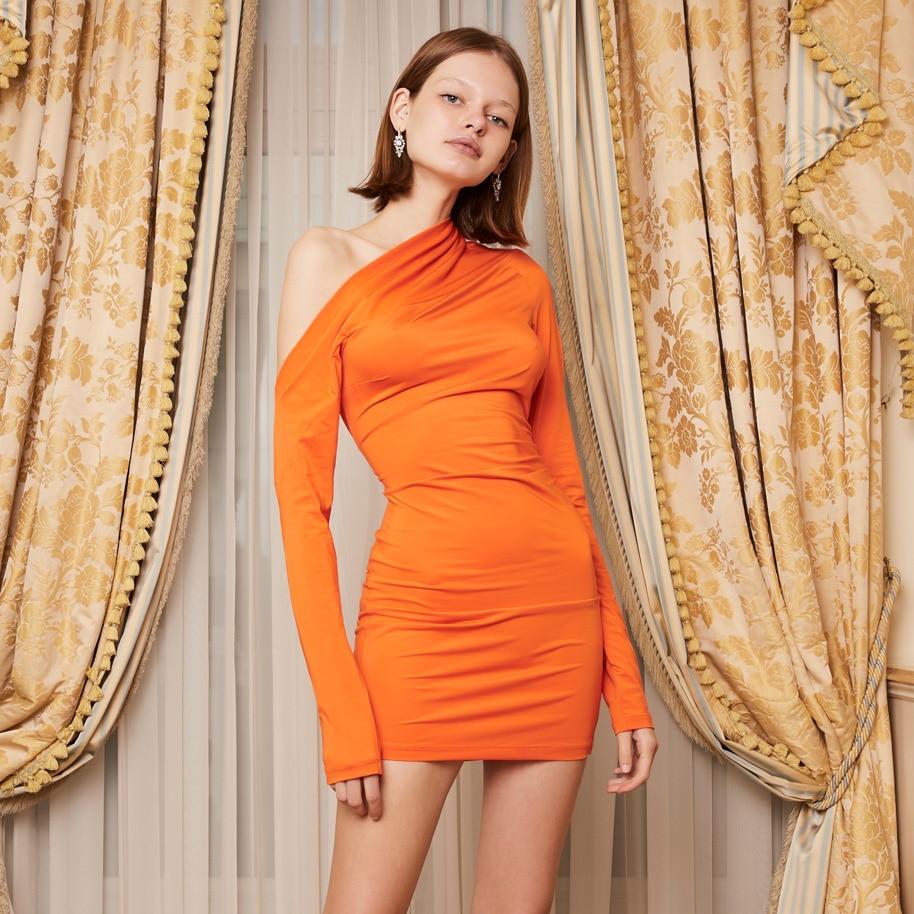 Goocheer Sexy Strapless Women Party Dress 2019 Long Sleeves Slim Bodycon Dress For Women Off Shoulder Dress Vestidos