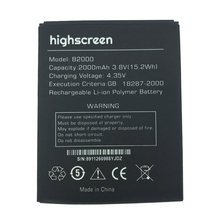 2pcs NEW Original 2000mAh B2000  battery for highscreen High Quality Battery+Tracking Number